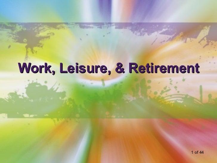 12 HU 133   Work and Retirement