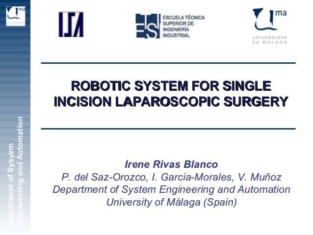 [25-28 Oct 2012] Robotic System for Single Incision Laparoscopic Surgery