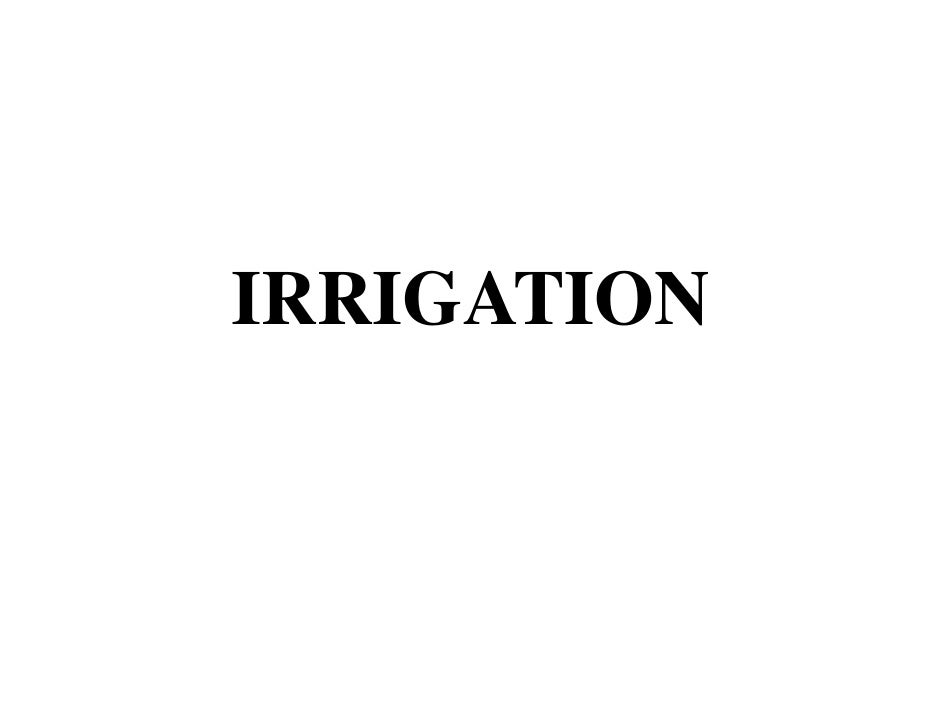 Agriculture Engineering-chptr12 irrigation