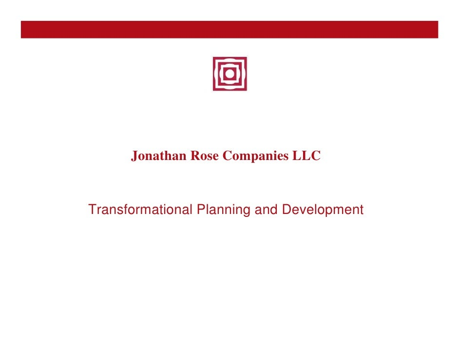 Jonathan Rose - JR LLC - Transformational Planning & Development