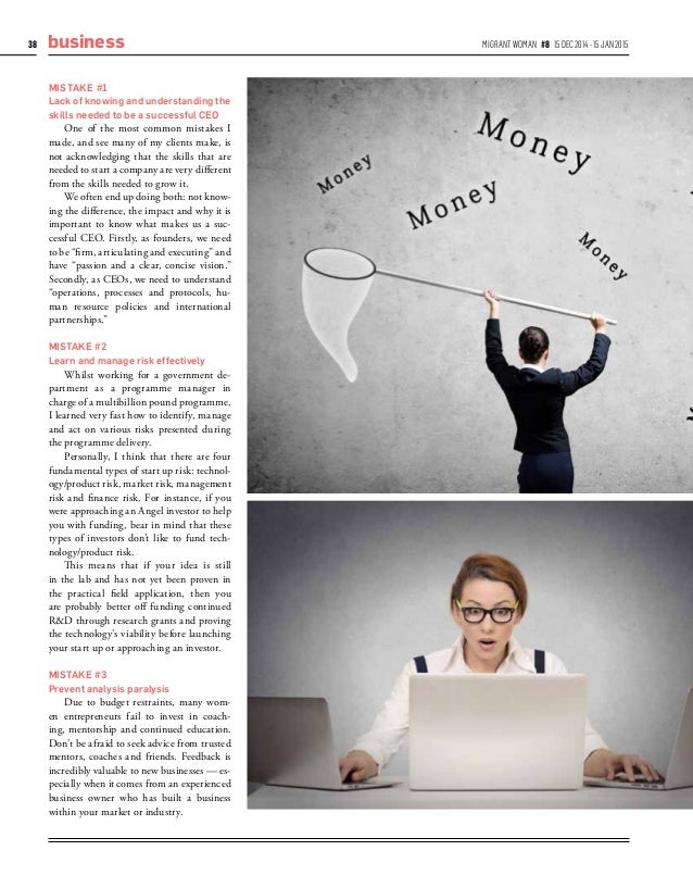 Women Entrepreneurs – Common Entrepreneurial Mistakes