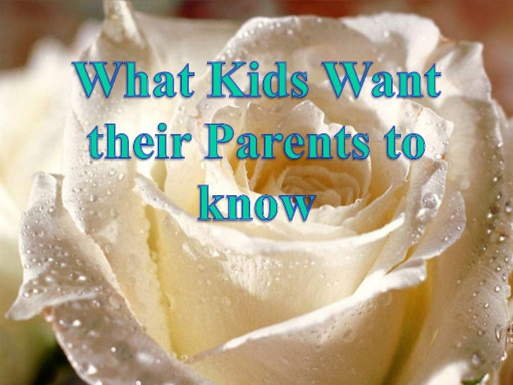 12 kids expectation from parents