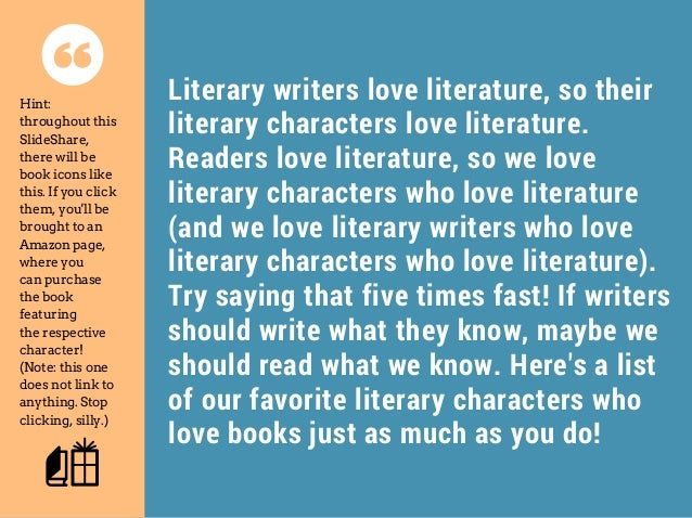 Books and Literary characters?