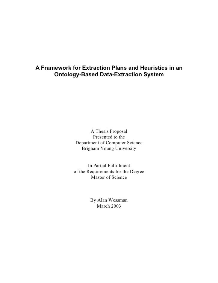 A Framework for Extraction Plans and Heuristics in an       Ontology-Based Data-Extraction System                         ...