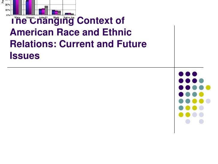 Chapter 12The Changing Context ofAmerican Race and EthnicRelations: Current and FutureIssues