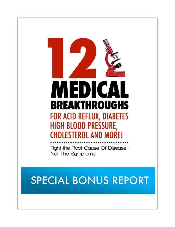 12 medical breakthroughs  - urgent read now