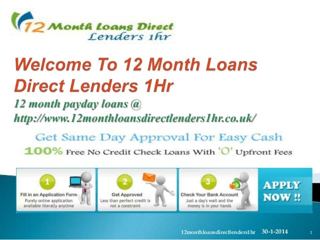 How do I apply for a 12 month payday loan?