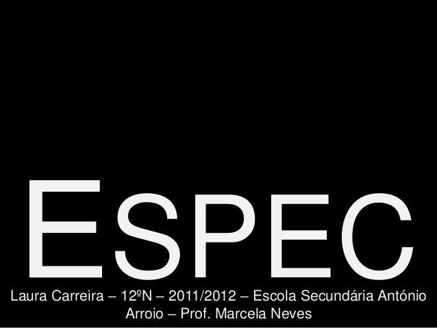 SPECLaura Carreira – 12ºN – 2011/2012 – Escola Secundária António                  Arroio – Prof. Marcela Neves