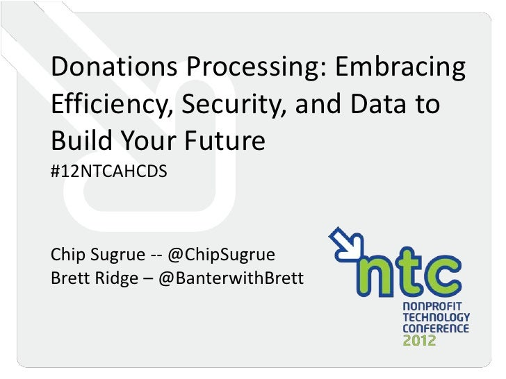 Donations Processing: Embracing Efficiency, Security, and Data to Build Your Future