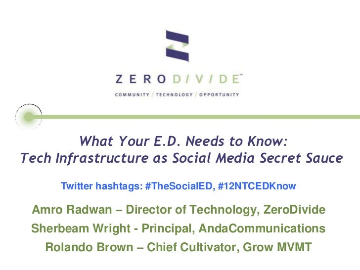 What Your E.D Needs to Know: Tech Infrastructure as Social Media Secret Sauce