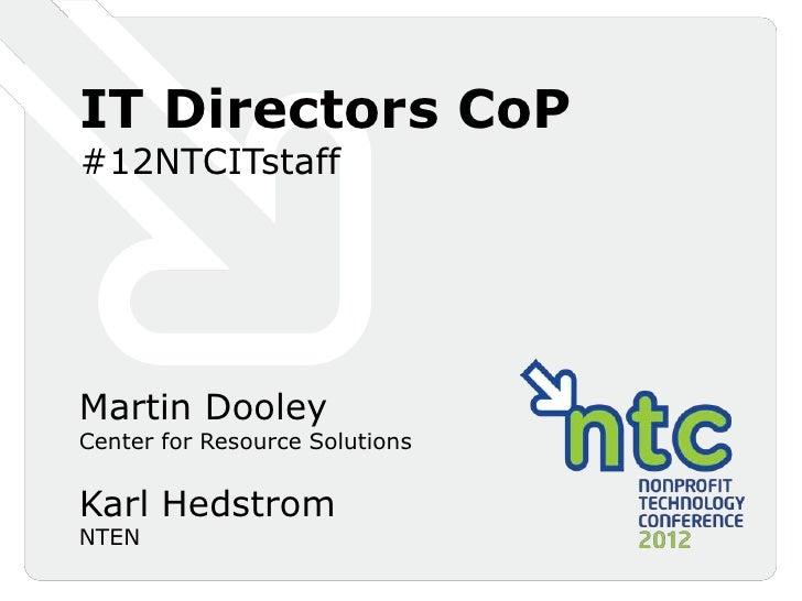 IT Directors CoP