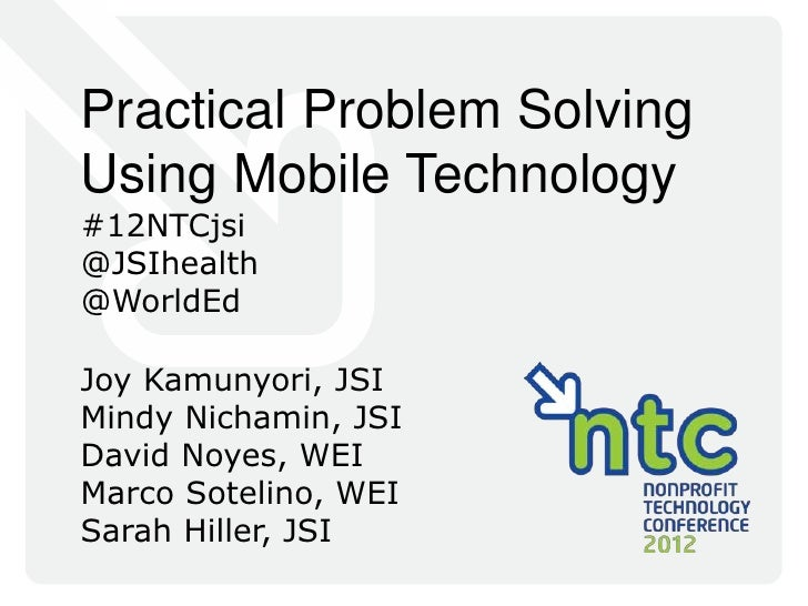 Practical Problem Solving Using Mobile Technology
