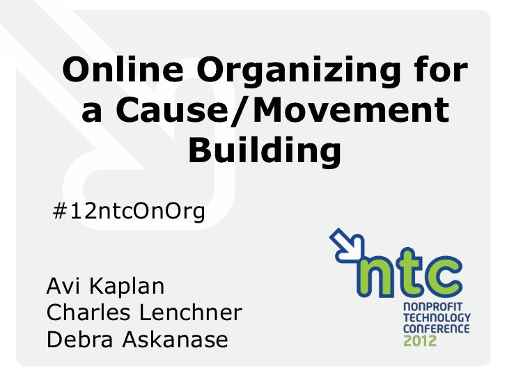 Online Organizing for a Cause / Movement Building