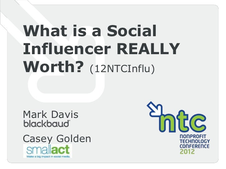 12 NTC Value of Social Influencer