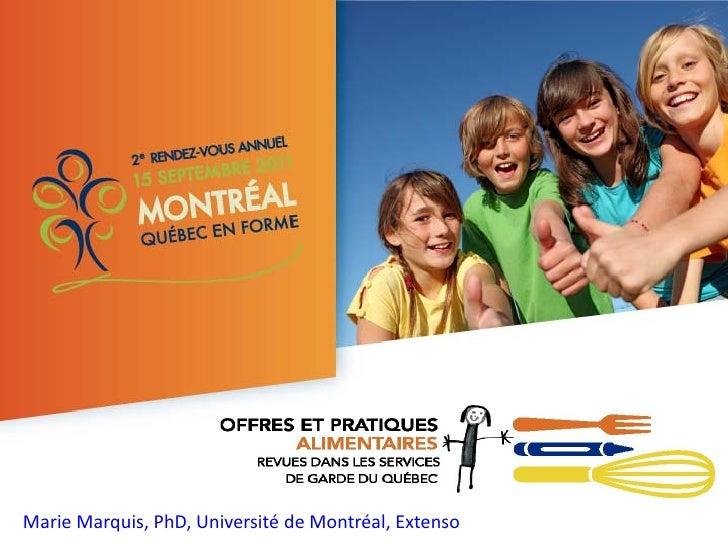 Marie Marquis, PhD, Université de Montréal, Extenso