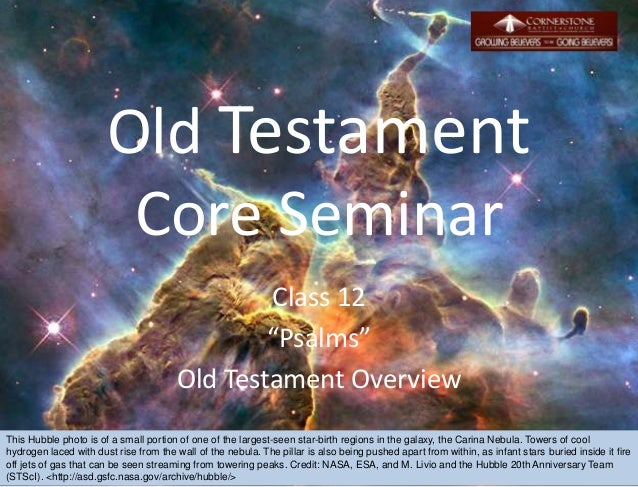 Session 12 Old Testament Overview - Psalms