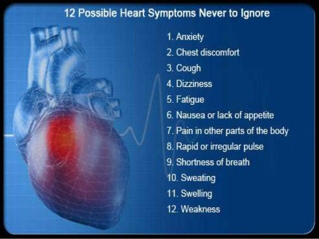 12 possible heart symptoms you shouldn't ignore