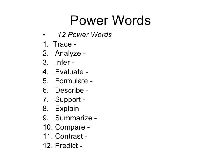 """the power of words analyzing mlks Well, good news: """"power words"""" are the answer,  using power word in testimonials power words are also tremendously effective in testimonials."""