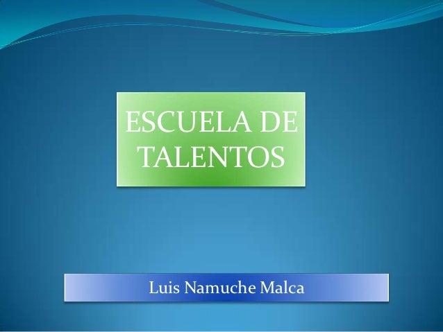 ESCUELA DE TALENTOS Luis Namuche Malca