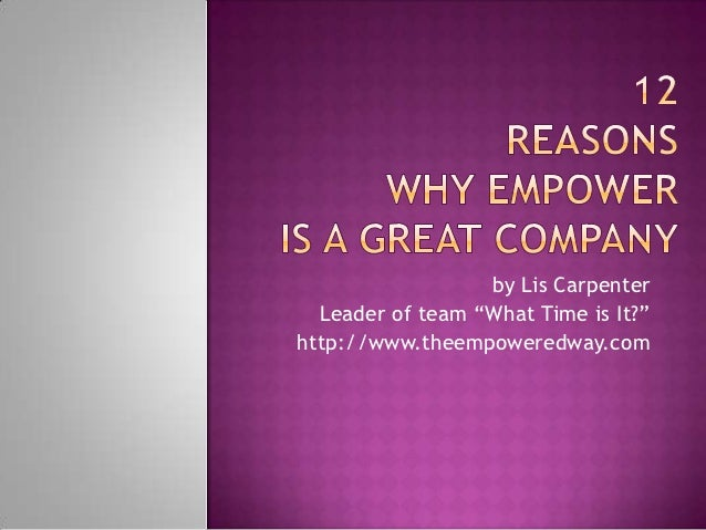 """by Lis Carpenter  Leader of team """"What Time is It?""""http://www.theempoweredway.com"""