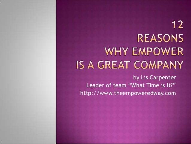 12 Reasons Empower Network Rocks