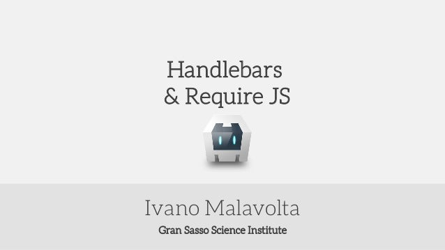 Handlebars and Require.js