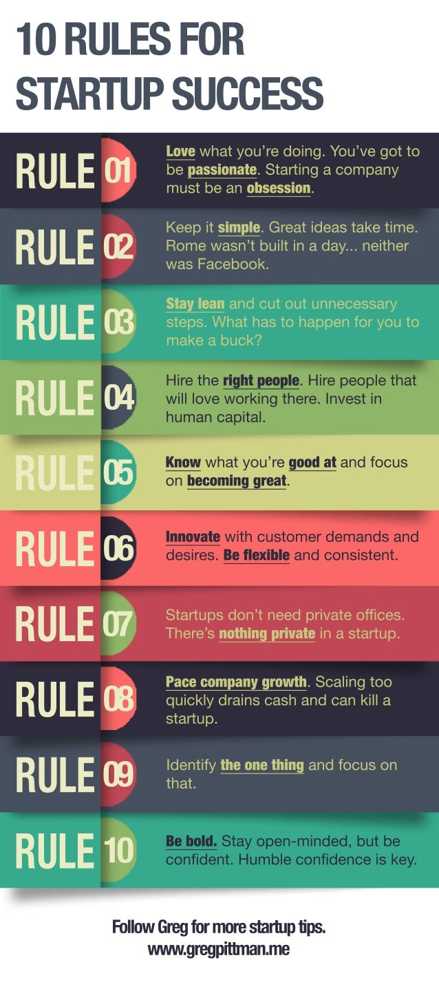 10 Rules for Startup Success