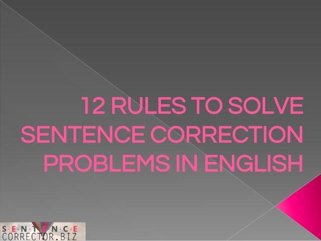 Online english sentence correction