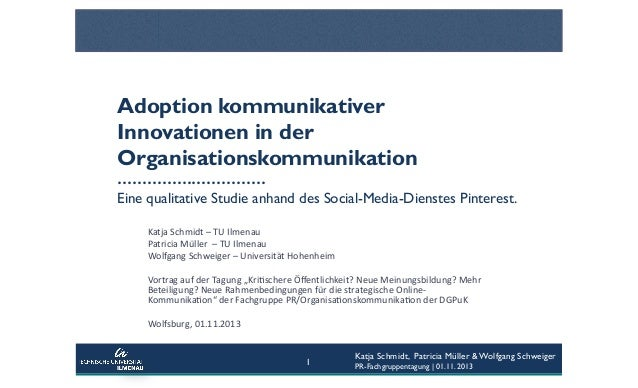 Adoption kommunikativer Innovationen in der Organisationskommunikation ………………………… Eine qualitative Studie anhand des Socia...