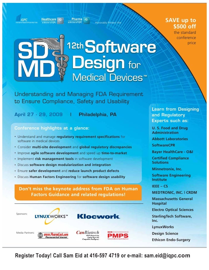 12th Software design for medical devices