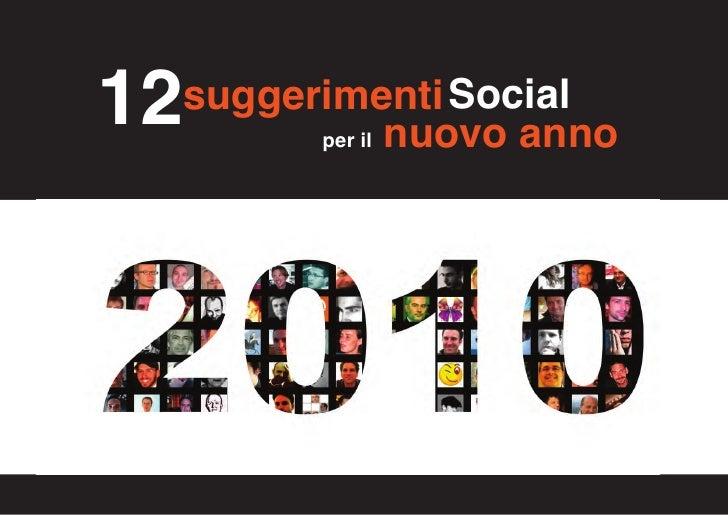 """12 suggerimenti """"Social"""" per il 2010"""