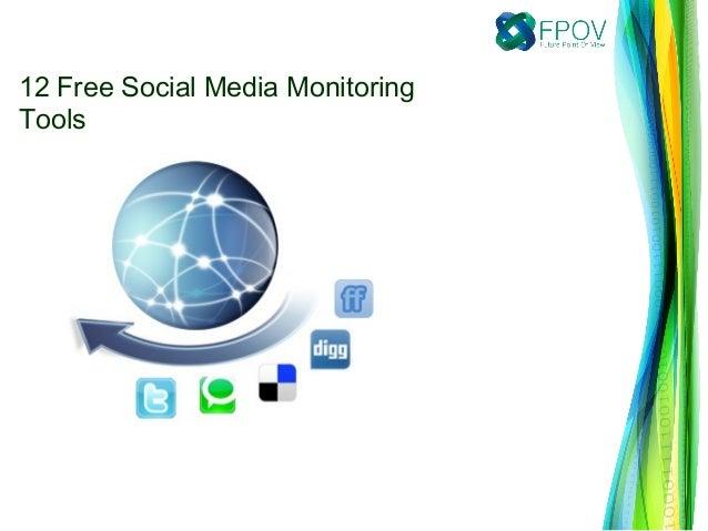 12 Free Social Media Monitoring Tools