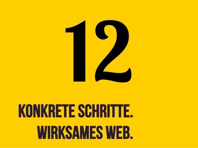 12Konkrete Schritte.   Wirksames web.