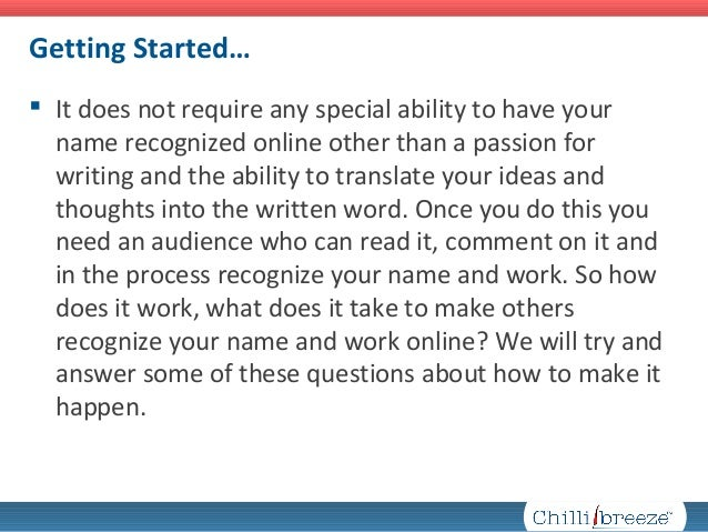 Online Writing Tips