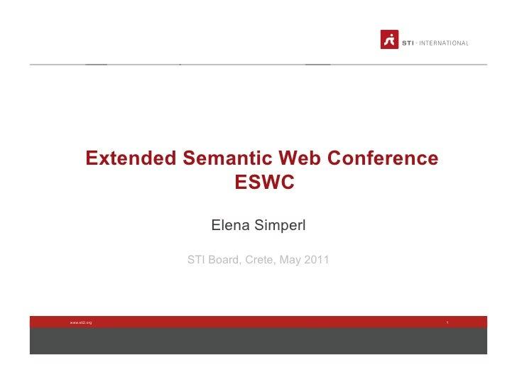 STI2 Board Meeting 2011 - ESWC
