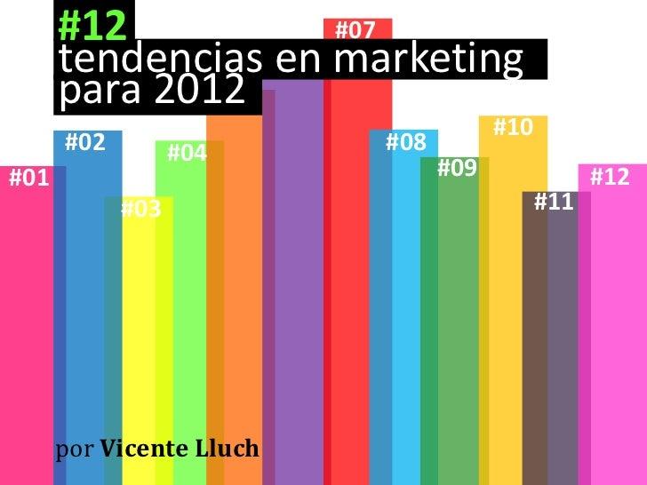 12 tendencias de marketing para 2012