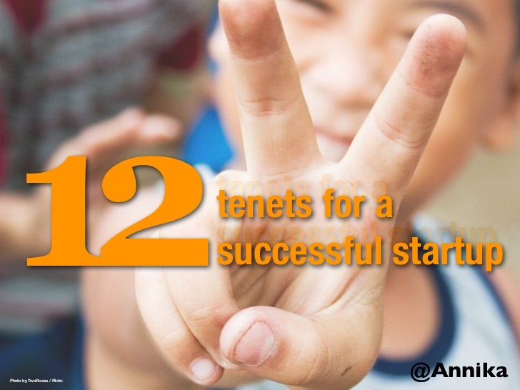 12 tenets for a successful startup