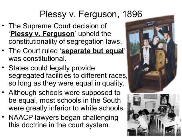 the supreme courts decision of the issue of segregation In the courts in the courts a year after the brown decision, the supreme court issued another decision on how brown should be implemented the court had ended all aspects of legal segregation the supreme court has continued to deal with issues related to race.