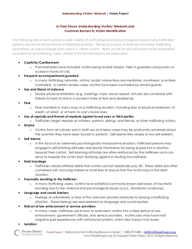 12/12 understanding victims' mindsets