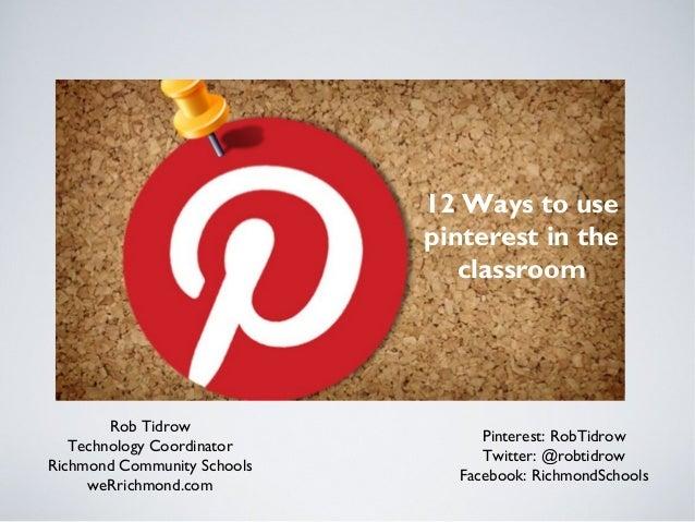 12 ways pinterest