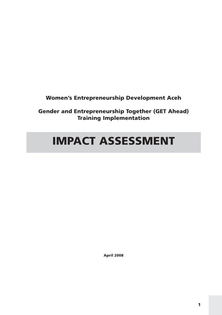 Women's Entrepreneurship Development Aceh  Gender and Entrepreneurship Together (GET Ahead)             Training Implement...