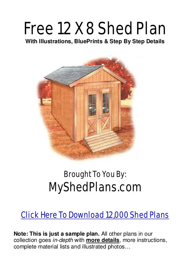 Small sheds free 12 by 24 shed plans for 18 x 24 shed plans