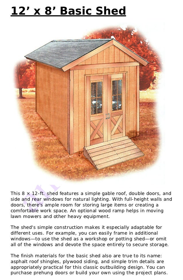 12 x 8 shed plans free for 12x8 shed with side door