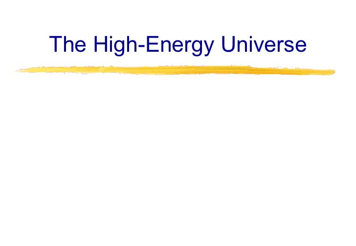 The High-Energy Universe