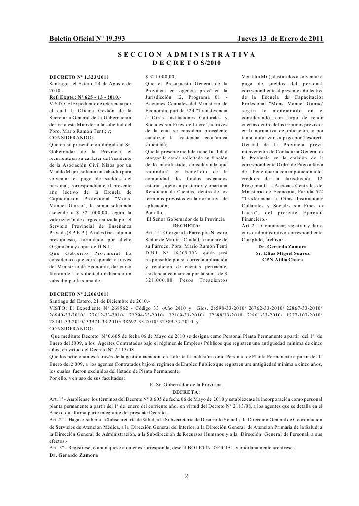 Boletín Oficial Nº 19.393                                                                 Jueves 13 de Enero de 2011      ...