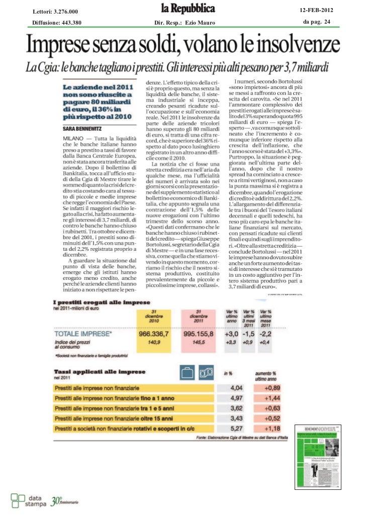 STUDIO NATILLO / Imprese senza soldi