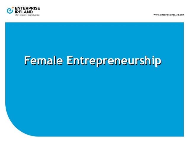 Female Entrepreneurship