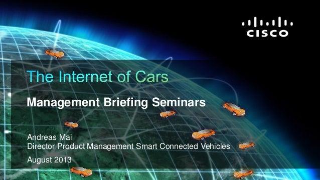 Internet of Cars, Andreas Mai, Cisco Systems