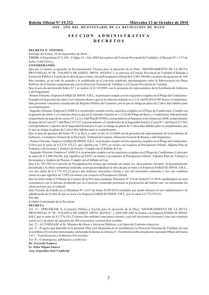 Boletín Oficial Nº 19.332                                                           Miércoles 13 de Octubre de 2010       ...