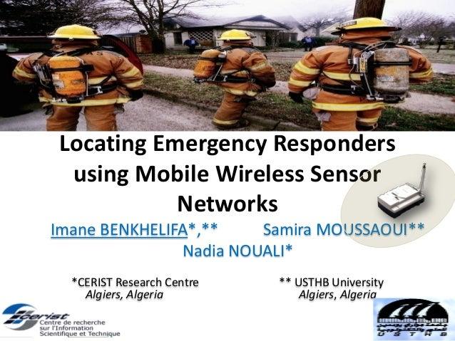 Locating Emergency Responders using Mobile Wireless Sensor Networks